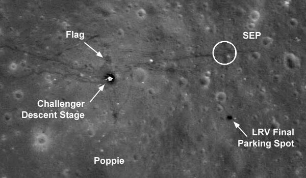 LRO views the landing site of Apollo XVII
